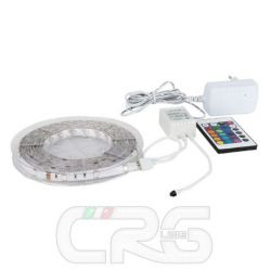rullina Flex strip striscia LED RGB SMD5050 300cm pronta all'uso con telecomando