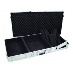 "Professionale custodia flightcase DJ look per 2 cdj 26 x 43 e 1 mixer 12"" 320mm"
