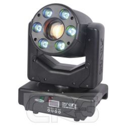 Testa mobile Shark Combi Spot One 30W + 6x RGB WASH & SPOT