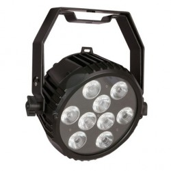 PAR LED Power Spot 9 Q6 Tour RGBWA-UV in uno,9x12W..per teatro,palchi,TV