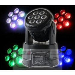 MINI TESTA MOBILE LED WASH 7 x 10W tecnologia RGBW