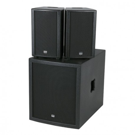 Club Mate II Set altoparlante attivo compatto da subwoofer 15""